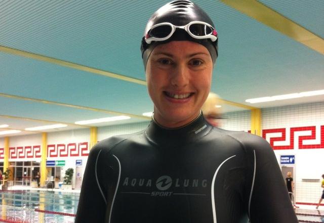 Rebecca Coales in Aqua Lung Sport Apnea Freediving Suit 1.5mm