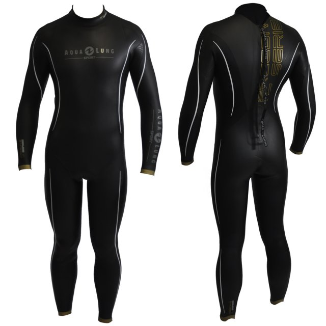 Aqua Lung Sport Freediving Suit, back and front male view