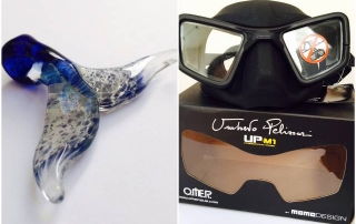 Go Freediving Whale fluke pendant and Umberto Pelizarri UP M1 Freediving Mask for June giveaway