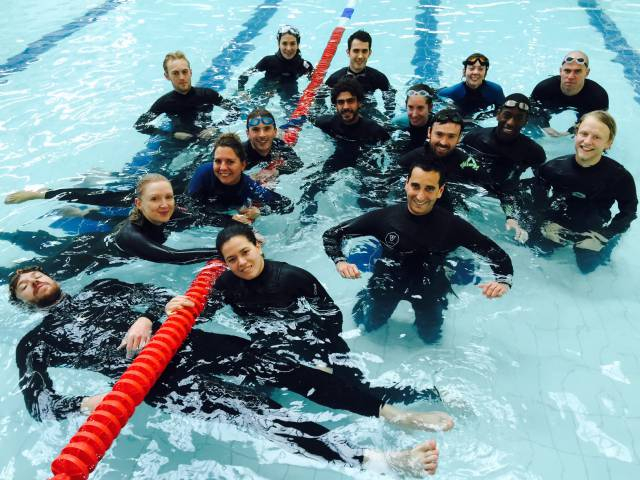 Go Freediving Surf Survival Course London Surf Club group in pool web version
