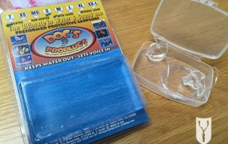 Doc's Proplugs for equalisation when freediving with packaging