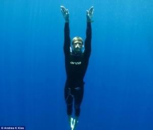 David Kent Freediving no-fins taken by Andrea K Kiss