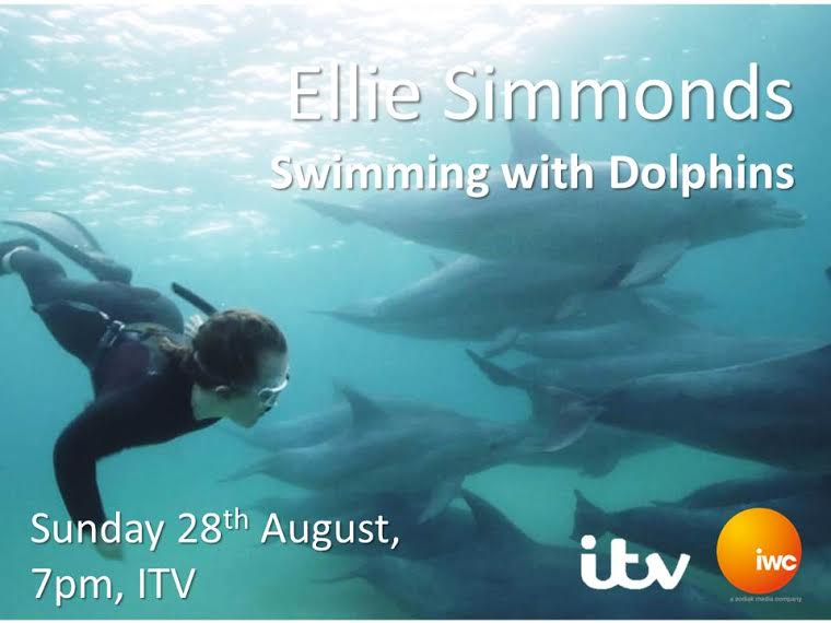 Ellie Simmonds Swimming with Dolphins ITV Go Freediving