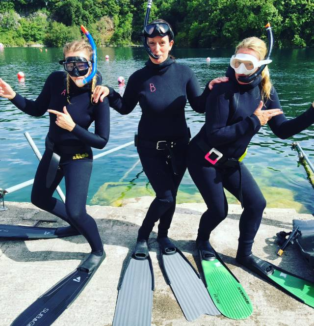 UK Freediving Course Charlie's angels Alicia, karen and Beckie