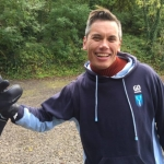 go freediving instructor david mellor with his new gloves