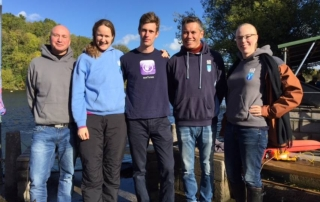 uk advanced freediving course student and instructors at vobster quay