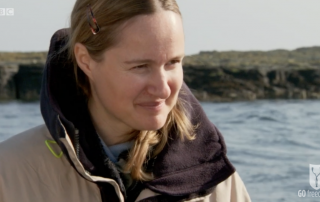 BBC Britain's Secret Seas, the power of the East, Emma Farrell in the Farne Islands