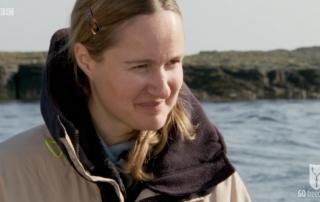 BBC Britain's Secret Seas, the power of the East, Emma Farrell in the Farne Islands