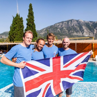 Carl Atkinson with the GB Freediving Team in Kalamata 2016