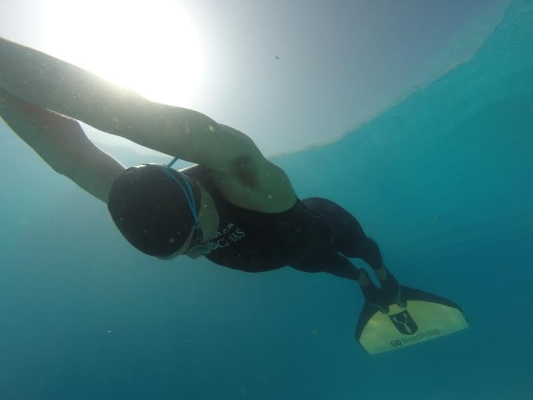 Go Freediving - Carl Atkinson underwater - Freediving Competitions