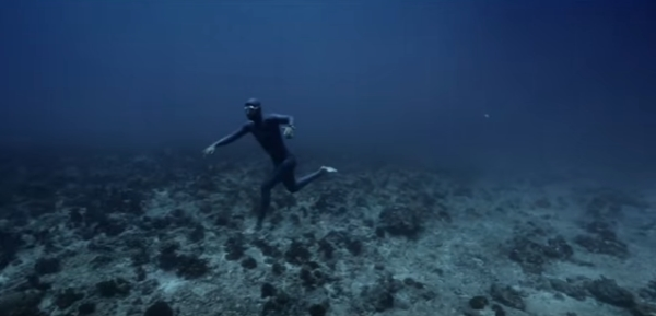 Still from the freediving film Ocean Gravity - with Guillaume Néry