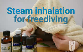 Steam inhalation for freediving