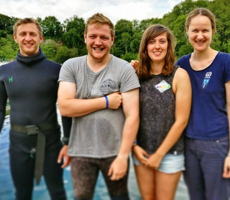Go Freediving - Freediving Courses in July -Group Photo Vlod Lucy and Jack