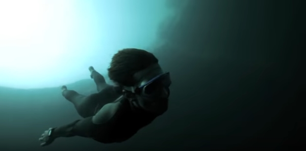 Go Freediving - Freediving film Free Fall - Guillaume Nery base jumping at Dean s Blue Hole image2