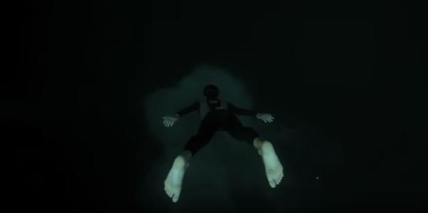 Freediving film Free Fall - Guillaume Nery base jumping at Dean s Blue Hole
