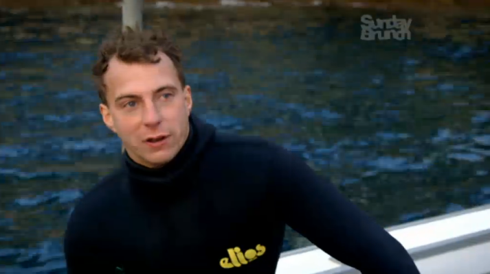 Go Freediving on The Wild Weekenders Channel 4 Arthur Williams after a freedive on a boat in Devon_web