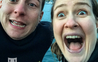 Go Freediving on The Wild Weekenders Channel 4 Arthur Williams and Emma Farrell selfie