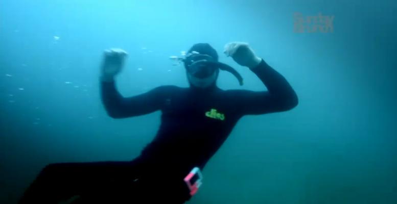 Go Freediving on The Wild Weekenders Channel 4 Arthur Williams freediving in Devon_web