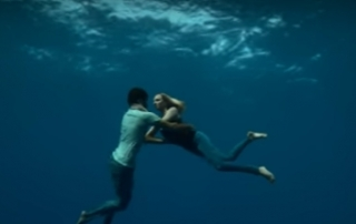 Go freediving Freediving in a music video Naughty Boy Runnin Lose It All ft. Beyoncé featured