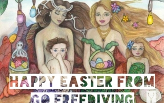 Happy Easter From GoFreediving - Artwork Laurie Leigh