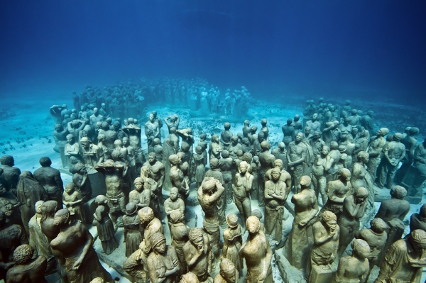 Go Freediving - 10 things you can do underwater - sculpture Lanzarote Atlantic Museum