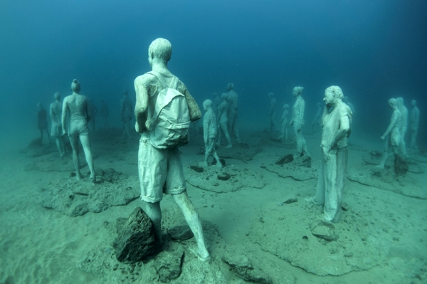 Go Freediving - 10 things you can do underwater - sculpture2 Lanzarote Atlantic Museum