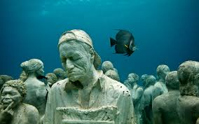 Go Freediving - 10 things you can do underwater - sculpture6 Lanzarote Atlantic Museum