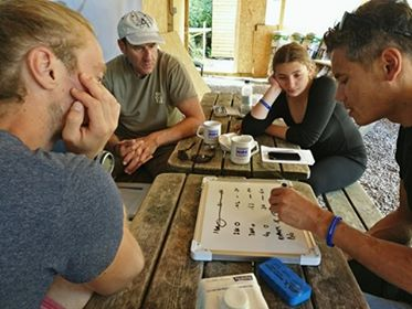 Go Freediving - RAID Freediver Courses in the UK - David explaining partial pressures