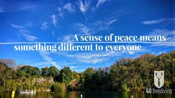 sense of peace