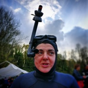 go freediving - freediving in November - Lucy with Periscope.
