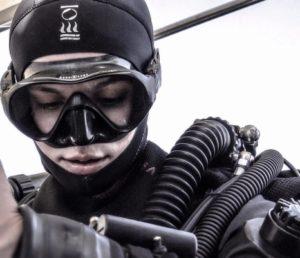 go freediving - gemma in dive kit - gemmas accident