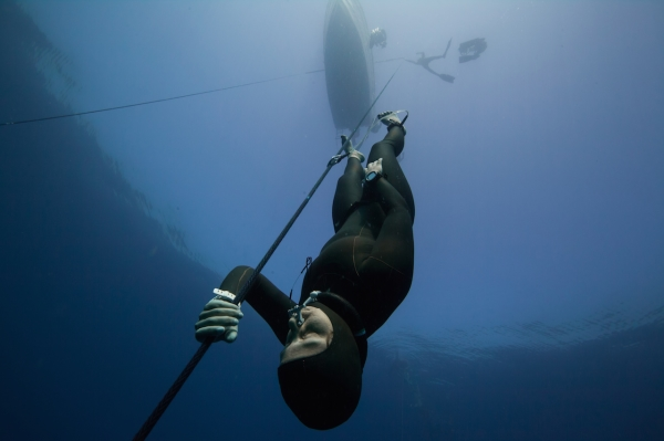 go freediving - Frenzel technique - decent