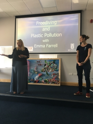 plastic pollution and freediving