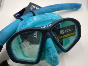 freediving kit for sale -blue mask and snorkel