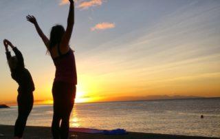 freediving and yoga holiday - saluting the sun