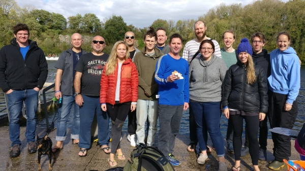 freediving in October - group photo