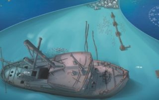 freediving in Tenerife - illustration wreck
