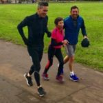 david mellor training and exercises - park run with his 79 year old mum