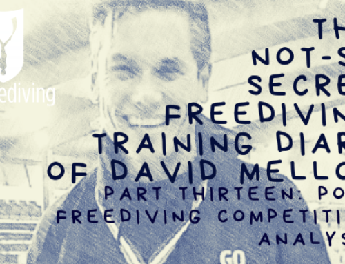 David Mellor – Post Freediving Competition Analysis