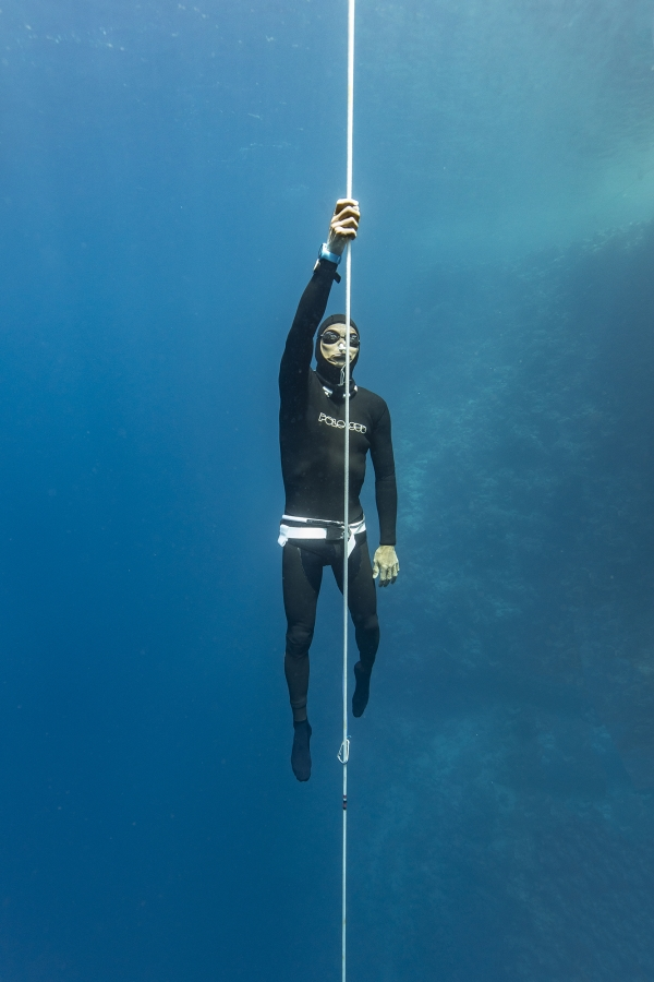 dahab freediving championships - David Mellor ascent