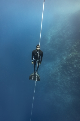 dahab freediving championships - David Mellor ascent2