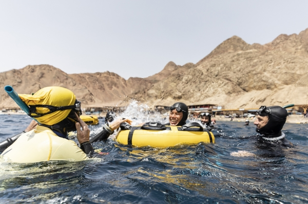 dahab freediving championships - David Mellor on the surface
