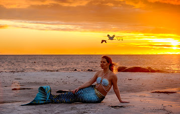Mermaid Athiraa sunset