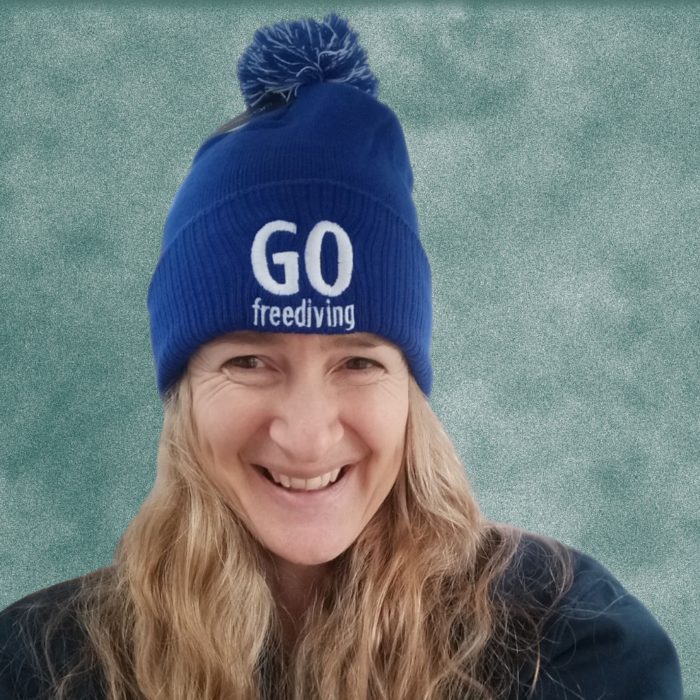 Go Freediving Beanie - Bright Royal 1