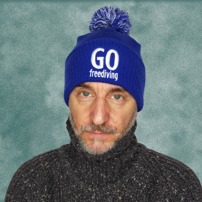 Go Freediving Beanie - Bright Royal 2