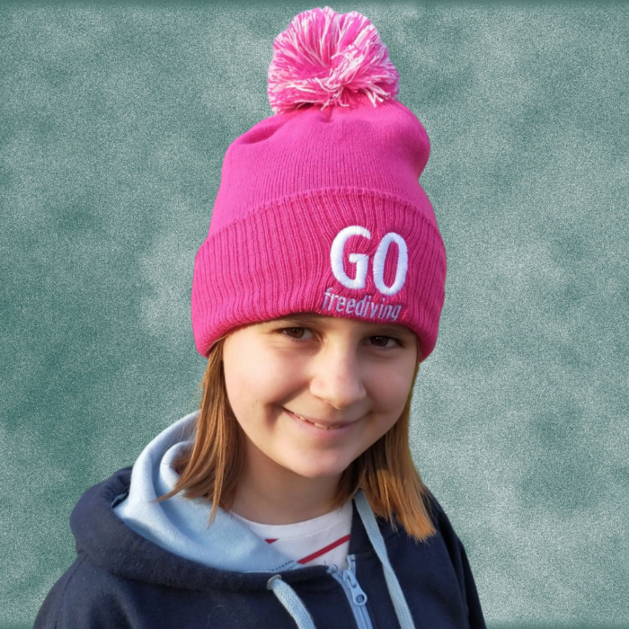 Go Freediving Beanie - Fuschia 3