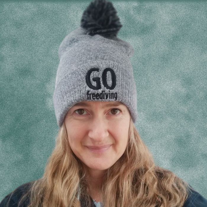 Go Freediving Beanie - Heather Grey 1