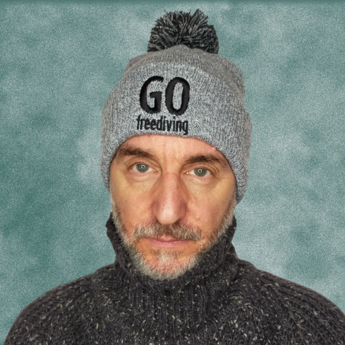 Go Freediving Beanie - Heather Grey 2