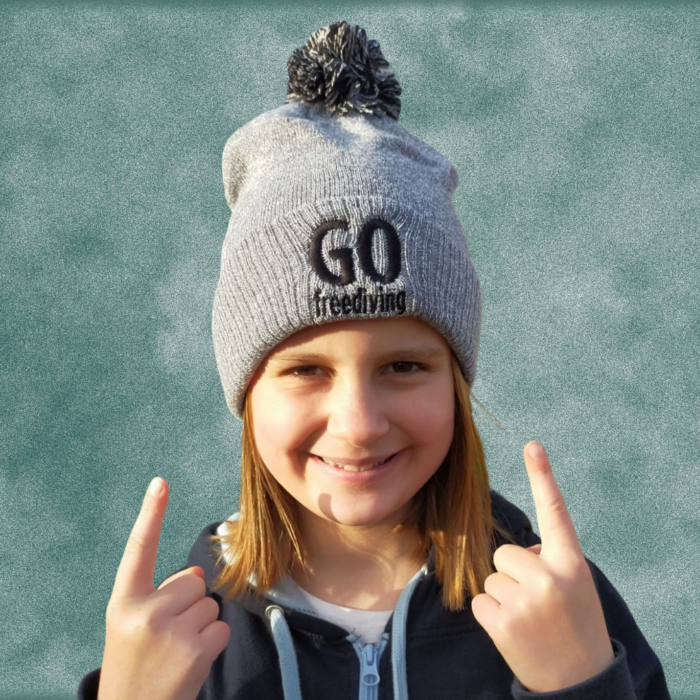 Go Freediving Beanie - Heather Grey 3