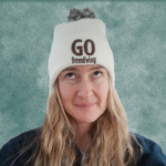Go Freediving Beanie - Off White and Mocha 1